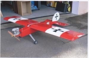 Avion à essence télécommandé Type CROSS