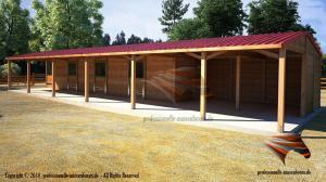Weidehütte-Offenstall, Aussenboxen, Pferdeställe