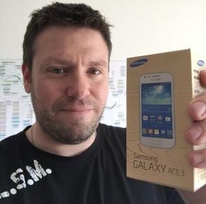 Richard Neukomm repart avec un son super Samsung Galaxy Ace3